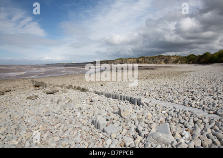 Lilstock beach West Somerset England near the Hinkley Point nuclear power station and Kilve and on the West Somerset - Stock Photo
