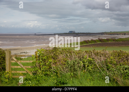 Hinkley Point nuclear power station Lilstock beach West Somerset England near  Kilve and on the West Somerset Coast - Stock Photo