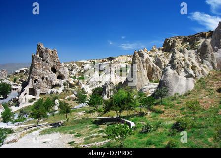 Kizlar Monastery in Goreme Open Air Museum, Cappadocia, Turkey. Central Anatolia. - Stock Photo