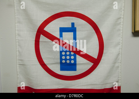 No mobile phone use sign - Stock Photo