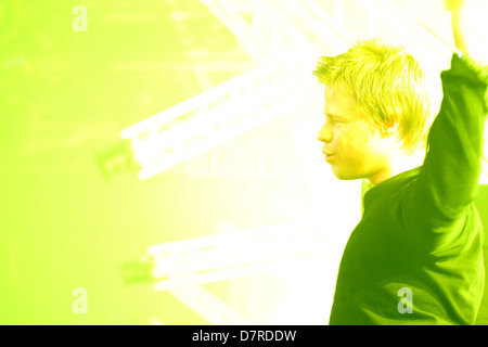 DJ Ferry Corsten at work at Trance Energy - Stock Photo