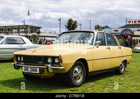 Rover 3500 P6 displayed during Classic Car Show on The Den Teignmouth south Devon UK. - Stock Photo