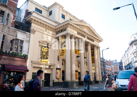 Lyceum Theatre showing The Lion King, Covent Garden, London, UK - Stock Photo