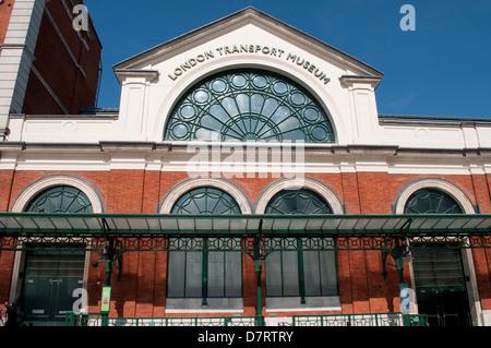 London Transport Museum, Covent Garden, London, UK - Stock Photo
