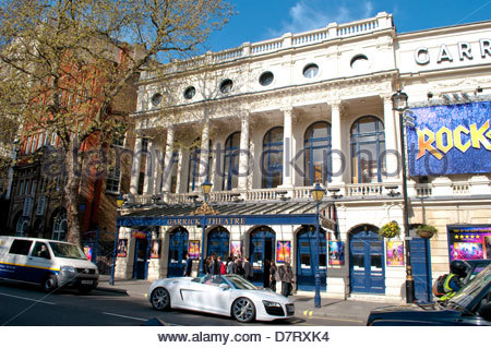 Garrick Theatre in Charing Cross Road, showing Rock of Ages, London, UK - Stock Photo