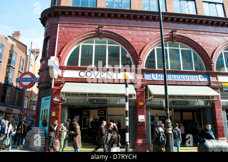 Covent Garden Underground Station, London, UK - Stock Photo