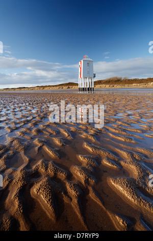 The Low Lighthouse. Burnham-on-Sea. Somerset, England, UK. - Stock Photo