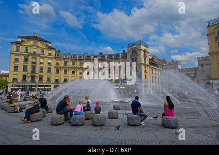 Karlsplatz , Munich, Bavaria, Germany, Europe - Stock Photo