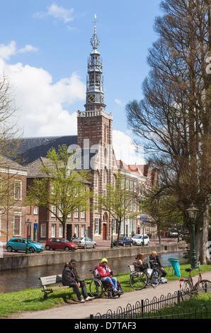 Leiden Holland - part of the University of Leiden - Stock Photo