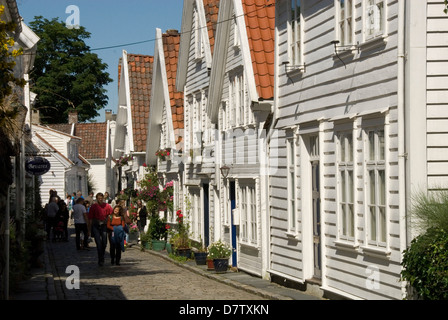 Gamle Stavanger (the old town), Stavanger, Norway, Scandinavia - Stock Photo