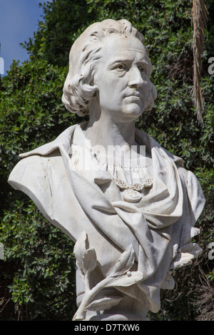 Statue of Columbus (Colon) in old town, Las Palmas, Canary Islands, Spain - Stock Photo