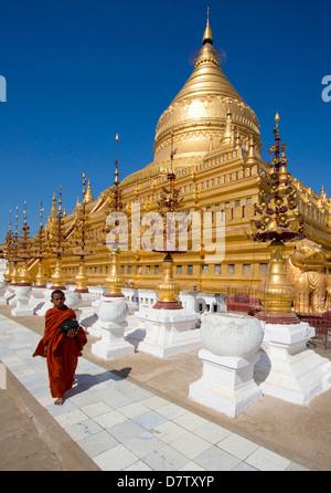 Shwezigon Paya, Nyaung U, Bagan, Burma - Stock Photo