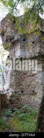 The old-time castle XVI ages. Ostrog. Ukraine Tower of the castle if Ostrog, Ukraine - Stock Photo