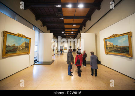 Art gallery, Museum at Castle Sforzesco, Milan, Lombardy, Italy - Stock Photo