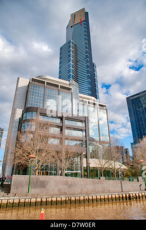 The Eureka tower, the tallest building in the central business district of Mellbourne, Australia. - Stock Photo