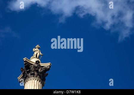 Nelson's Column, Trafalgar Square, London, England, United Kingdom - Stock Photo