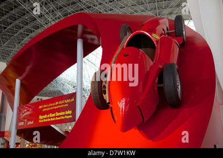 Formula 1 Racing Car, Ferrari World, Yas Island, Abu Dhabi, United Arab Emirates, Middle East - Stock Photo