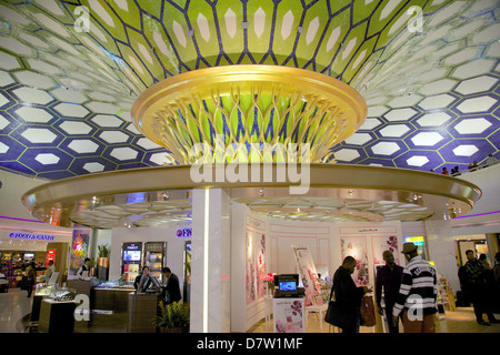 Departure Lounge, International Airport, Abu Dhabi, United Arab Emirates, Middle East - Stock Photo