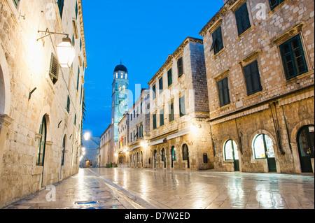 Dubrovnik Old Town, Franciscan Monastery on Stradun, UNESCO World Heritage Site, Dubrovnik, Dalmatia, Croatia - Stock Photo