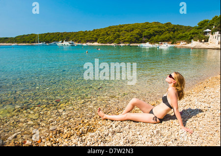 Hvar Town, Hvar Island, Dalmatian Coast, Adriatic, Croatia - Stock Photo