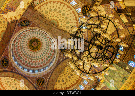 Yeni Cami or the New Mosque, Domes and cupolas, Istanbul Old city, Turkey - Stock Photo