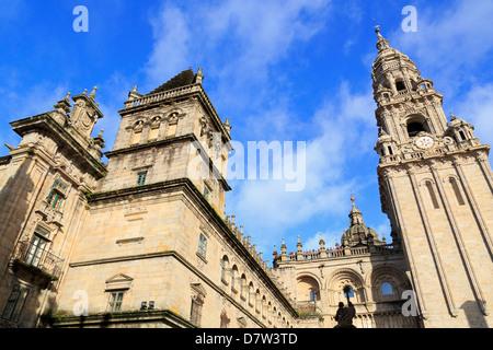 Cathedral, Santiago de Compostela, UNESCO World Heritage Site, Galicia, Spain - Stock Photo