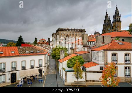 Old Town, Santiago de Compostela, UNESCO World Heritage Site, Galicia, Spain - Stock Photo
