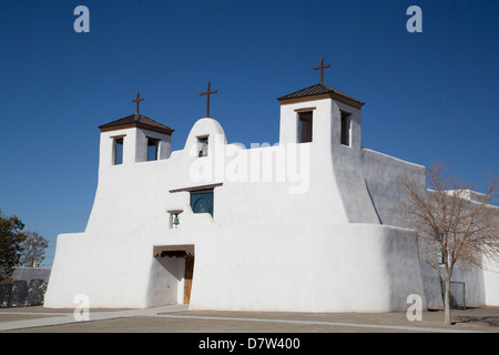 St. Augustine Church, Isleta Pueblo, New Mexico, USA - Stock Photo