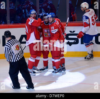 Stockholm, Sweden. 14th May 2013. IIHF World Championships, Ice Hockey, Group A, Czech Republic vs. Norway, May - Stock Photo