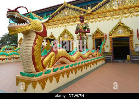 Asia Malaysia Penang Georgetown Wat Chayamangkalaram Buddhist Temple, - Stock Photo