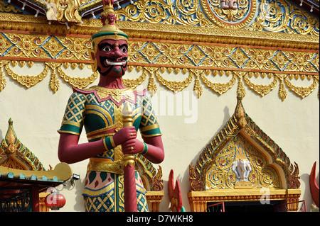 Asia Malaysia Penang Georgetown Wat Chayamangkalaram Buddhist Temple - Stock Photo