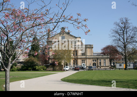 Town Hall from Imperial Gardens Cheltenham Gloucestershire England UK - Stock Photo