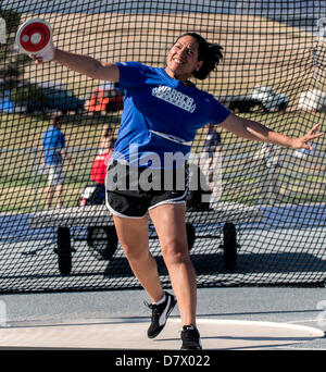 Colorado Springs, Colorado, USA. 14th May 2013. MONICA FIGUEROA, representing the Air Force, competes in the Women's - Stock Photo