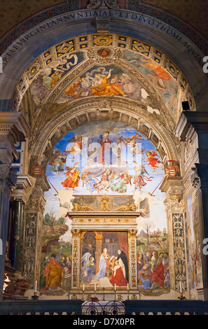 The Carafa chapel, basilica of Saint Mary above Minerva, Santa Maria sopra Minerva, Rome, Italy - Stock Photo