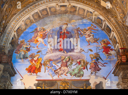 Carafa chapel, frescoes by Filippino Lippi, basilica of Saint Mary above Minerva, Rome, Italy - Stock Photo