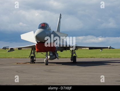 Eurofighter Typhoon ZJ925 RAF Jet at the Cotswold Airshow at Kemble - Stock Photo