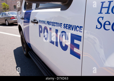 Homeland Security police car - Washington, DC USA - Stock Photo