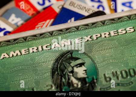 American Express credit card - Stock Photo