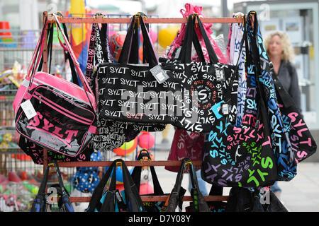 Handbag with an inscription 'Sylt' on Sylt, on 09.05.2013. - Stock Photo