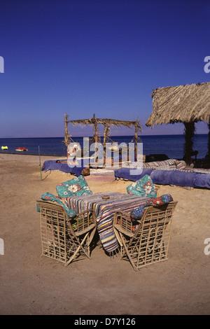 Nuweiba Tarabin beach in Nuweiba also spelled: Nueiba a coastal town in the eastern part of Sinai Peninsula, Egypt - Stock Photo