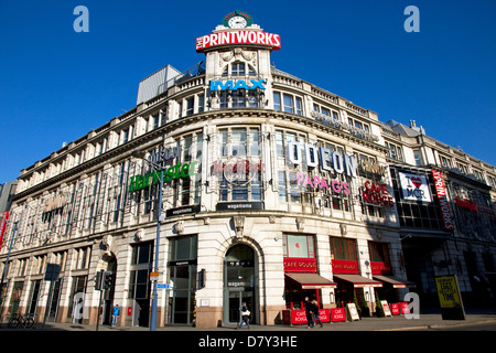 The Printworks - entertainment venue- , Withy Grove / Corporation Street, city centre, Manchester, England, UK. - Stock Photo