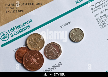 HM Customs and Revenue Self Assessment Notice to complete a Tax Return England UK United Kingdom GB Great Britain - Stock Photo