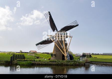 dutch windmill de goede hoop near the village voorhout - Stock Photo