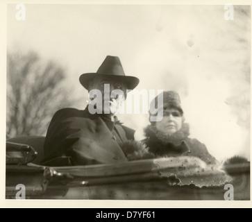 Woodrow Wilson & Edith Bolling Galt - Stock Photo