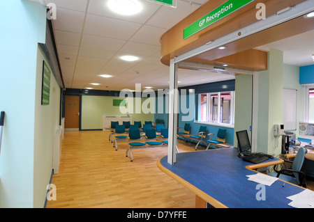Empty doctor's office waiting room - Stock Photo