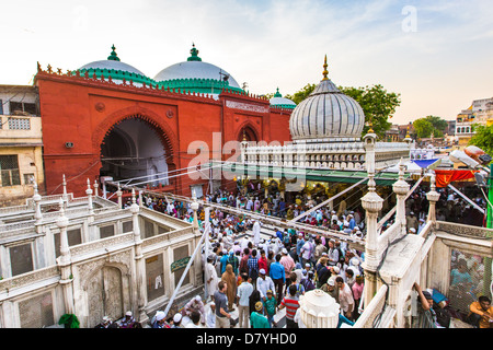 Nizamuddin Dargah, shrine and Mausoleum of a Sufi Saint, Delhi, India - Stock Photo