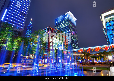 Xinyi District of Taipei, Taiwan. - Stock Photo