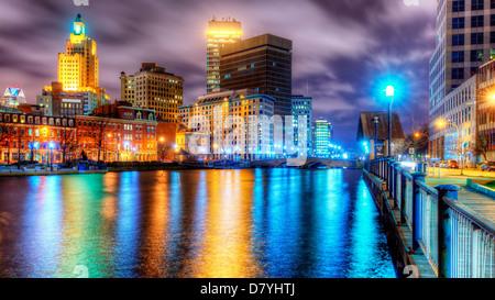 Providence, Rhode Island, USA skyline. - Stock Photo