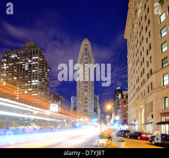 The Flatiron District in New York City. - Stock Photo