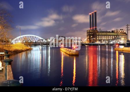 Providence River in Providence, Rhode Island - Stock Photo